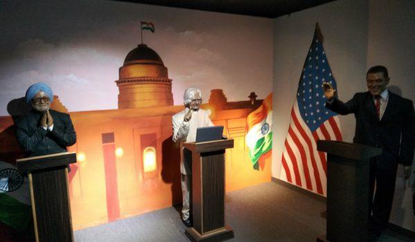 Wax Statutes of Dr. Manmohan Singh, Dr. Abdul Kalaam at Mayapuri Wonder Wax Museum
