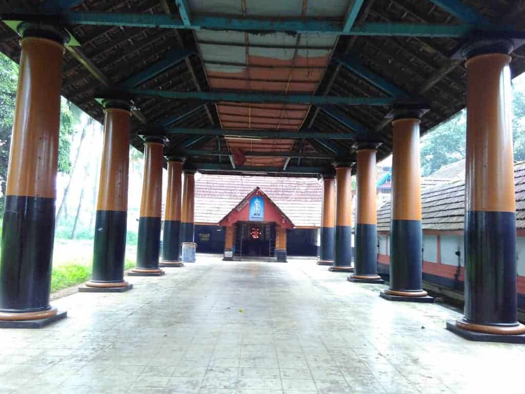Pillar Structure at Thiruvambadi Krishna Temple