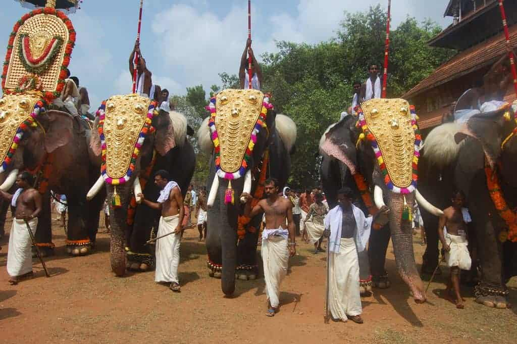 Farewell ceremony at Thrissur Pooram