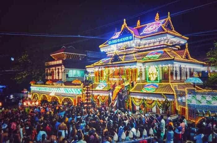 Festival decoration at Thiruvambadi Krishna Temple