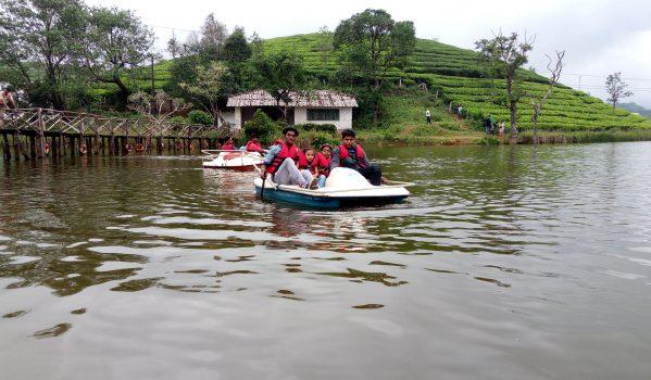 Boating in lake