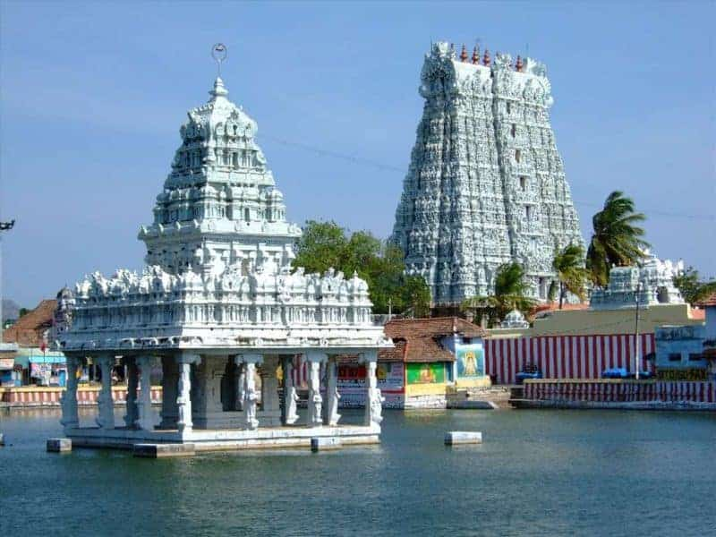 View of Suchindram Temple from outside
