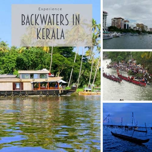 Collage of Backwaters of Kerala