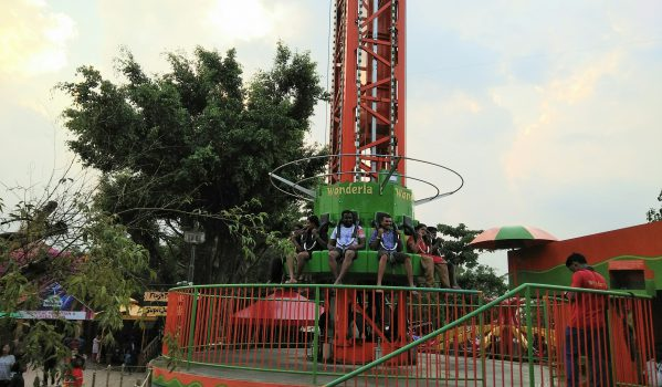 Flash Tower ride at Wonderla Kochi
