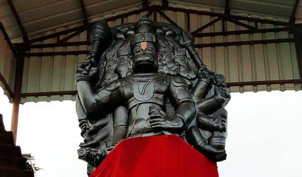Giant Hanuman Idol at Sri Panchmukhi Hanuman Mandir